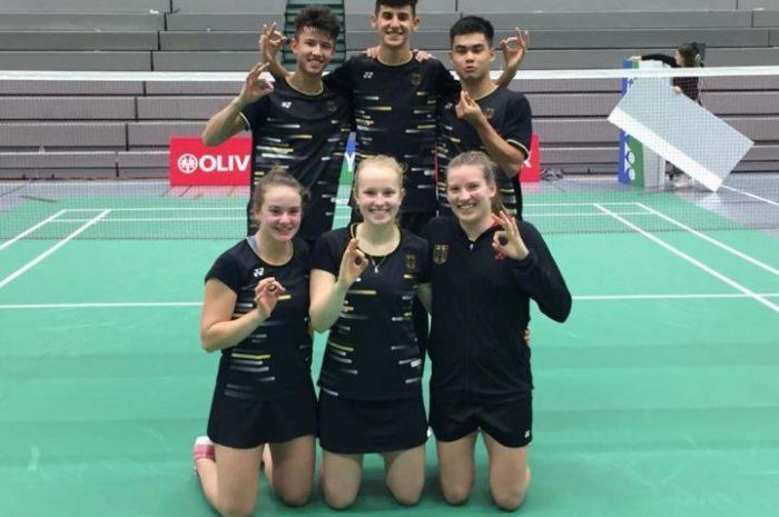 TV 1860 Hofheim bei der U19 Europameisterschaft U19 im Badminton